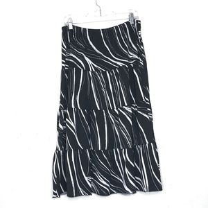 American City Wear Stretch Knit Tiered Skirt
